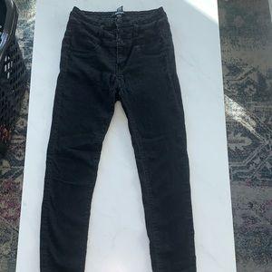 2/$20 fashion nova black denim jeans high waisted